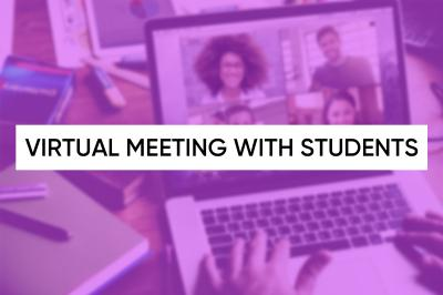 Virtual Meeting with Students