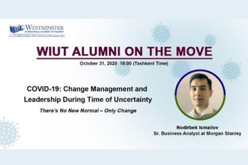 WIUT Alumni on the move